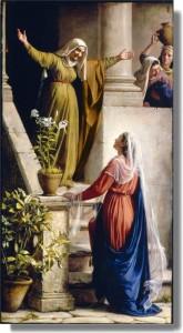 María visita a Elizabet por Greg Olsenmormon