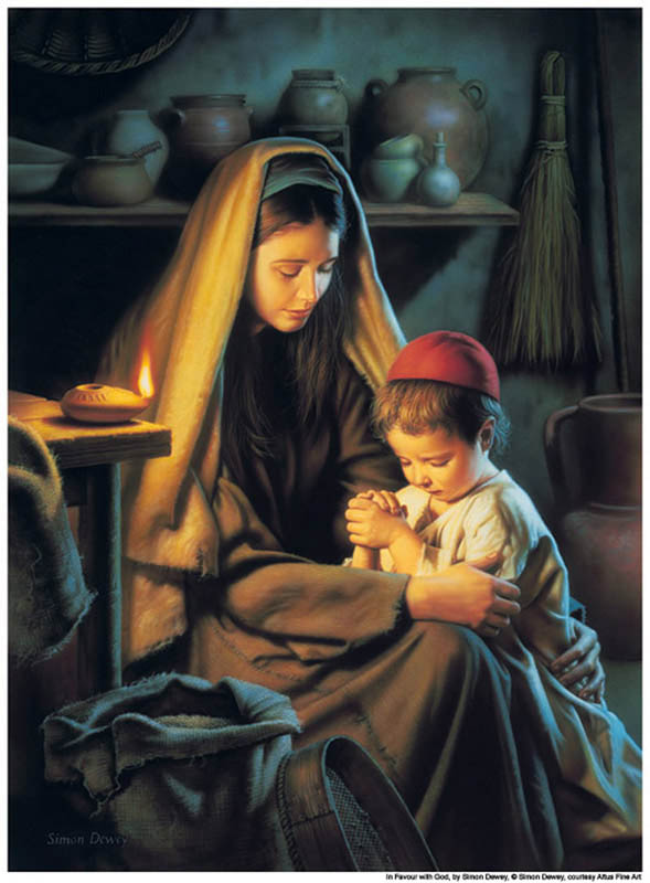 Jesus-Praying -Mother-mormon