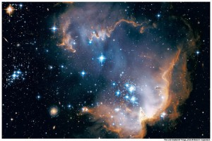 Satellite view of Magellanic Cloud mormon creation