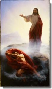 Vete, Satanás, por Carl Bloch mormon