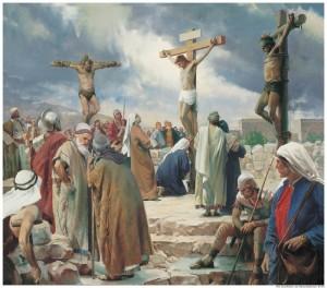 Crucifixión-Cristo-Cruz-Mormón