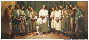 Cristo ordenando a los apóstoles