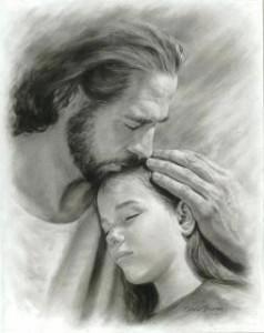 Jesús con niña