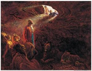 Daniel en el foso de los leones-mormones
