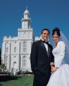 matrimonio mormón en el templo